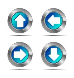 Arrow icon button white background vector