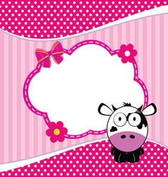 Banner for children with cow animal vector