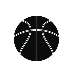 Basketball ball black simple icon vector
