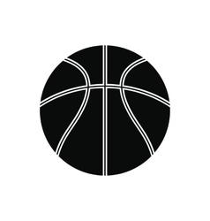 basketball ball black simple icon vector image