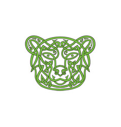 Bear celtic knot vector