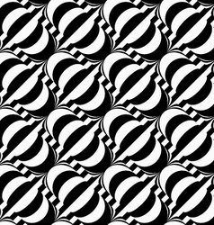 Black and white diagonal bulbs on stripes vector image