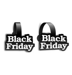 black realistic advertising wobblers for black vector image