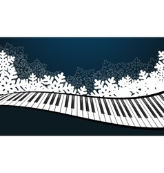 Blue template with piano vector