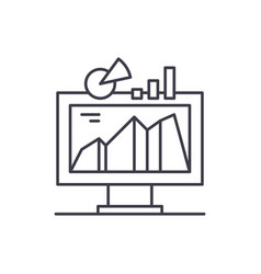 business indicator system line icon concept vector image