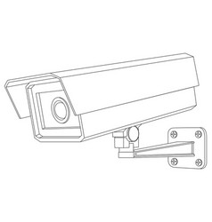 Cctv camera outline isolated vector