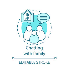 Chatting with family concept icon vector
