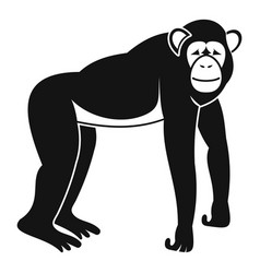 Chimpanzee icon simple style vector