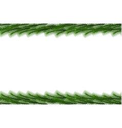 christmas garland seamless border decorati vector image