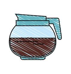 coffee jug vector image