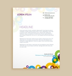 creative circle shapes letterhead design vector image