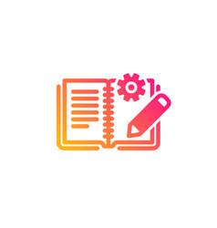 Engineering documentation icon technical vector