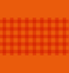 fabric in orange color seamless tartan pattern vector image
