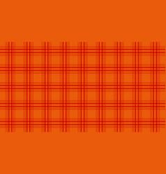 Fabric in orange color seamless tartan pattern vector