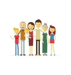 family portrait at the simple style vector image