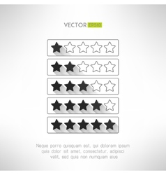 Five stars rate design elements in modern simple vector
