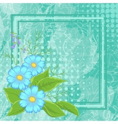 Flowers and frame vector