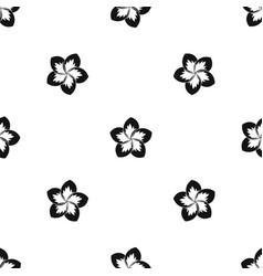 Frangipani flower pattern seamless black vector