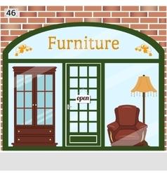Furniture shop detailed design facade vector