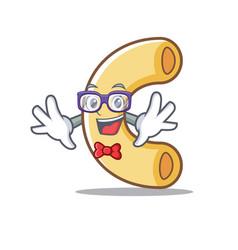 Geek macaroni character cartoon style vector