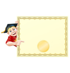 graduate and certificate vector image
