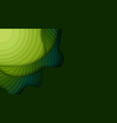 Green paper layers 3d abstract gradient papercut vector