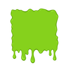 - green slime drips vector image