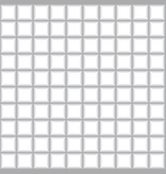 Grey squares mosaic tile on white background vector