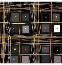 Grunge checkered pattern vector