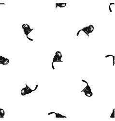 Hairy monkey pattern seamless black vector