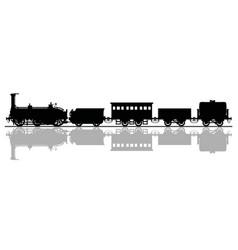 historical steam train vector image