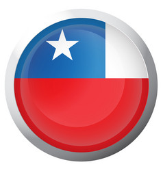 Isolated flag of chile vector