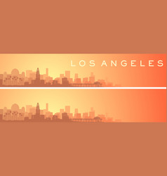 Los angeles beautiful skyline scenery banner vector