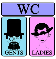 Male and female restroom symbol vector image