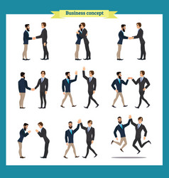 mans handshake business people teamwork vector image