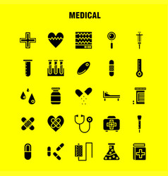 medical solid glyph icon pack for designers and vector image