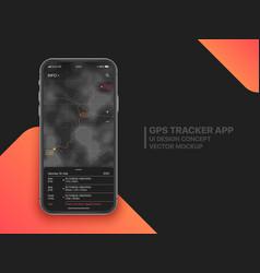 Mobile gps tracker ui concept vector