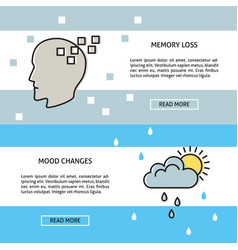 neurological problems concept banner templates vector image