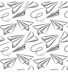 paper plane seamless pattern vector image