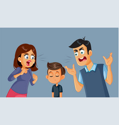 parents screaming at their child vector image