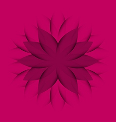 Pink purple Wheel Flower vector