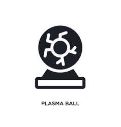 Plasma ball isolated icon simple element from vector