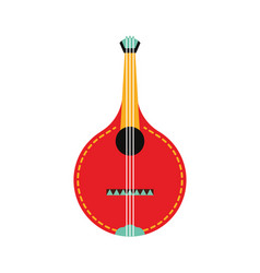 Portugal guitar fado flat style on white vector