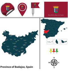 Province of badajoz spain vector