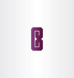 Purple letter e logo sign design vector