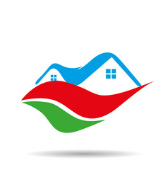 real estate icon logo vector image