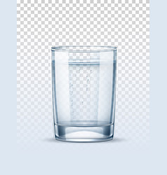 realistic empty glass for pure water vector image