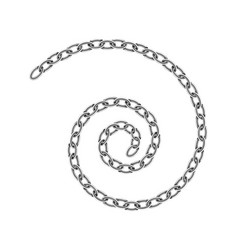 realistic metal chain texture spiral swirl chains vector image