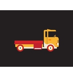 Red retro vintage delivery truck icon isolated on vector