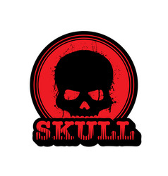 red skull logo vector image